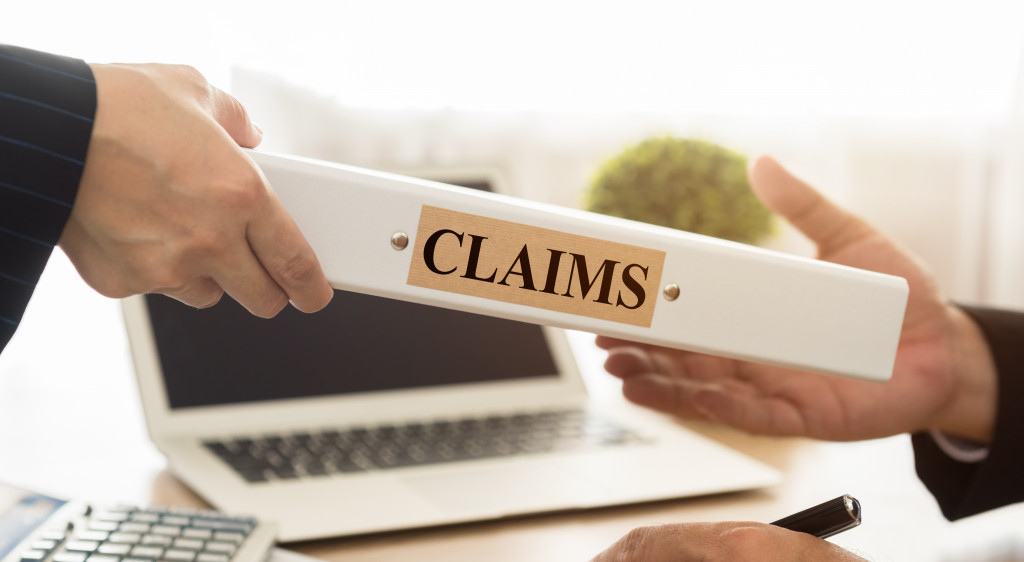 person receiving claims document